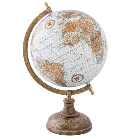 Wereldbol/globe 22*20*33 cm Meerkleurig | 63960 | Clayre & Eef