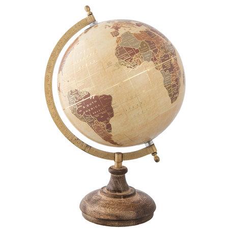 Wereldbol/globe 22*20*33 cm Meerkleurig   63961   Clayre & Eef