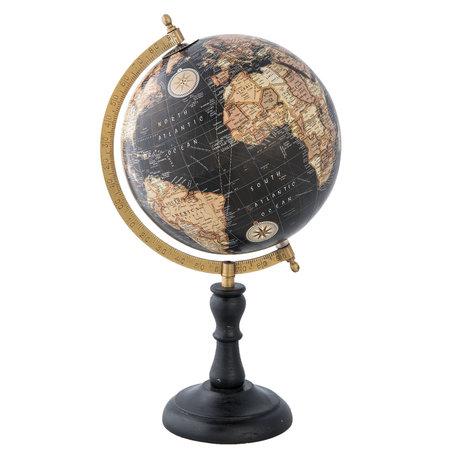 Wereldbol/globe 22*20*39 cm Meerkleurig | 63962 | Clayre & Eef