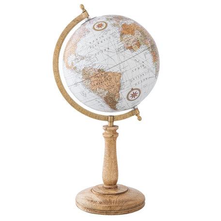 Wereldbol/globe 22*20*43 cm Meerkleurig | 63964 | Clayre & Eef