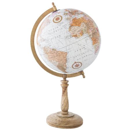 Wereldbol/globe 27*25*48 cm Meerkleurig | 63965 | Clayre & Eef