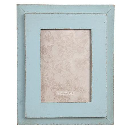 Fotolijst 22*3*28 cm / 13*18 cm Blauw | 2F0626 | Clayre & Eef