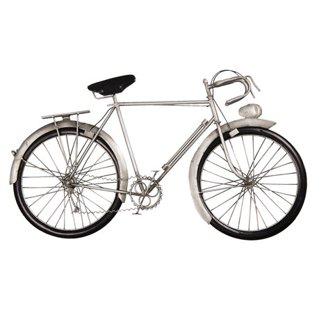 Wanddecoratie fiets 62*5*34 cm Grijs | 5W6Y3614 | Clayre & Eef