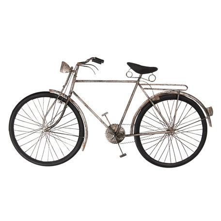 Wanddecoratie fiets 90*6*48 cm Grijs | 5W6Y3615 | Clayre & Eef