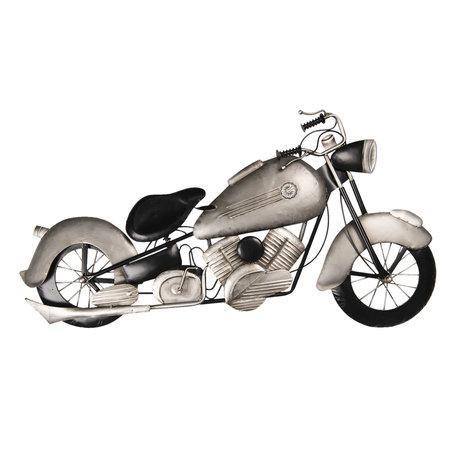 Wanddecoratie motor 98*6*54 cm Grijs | 5W6Y3617 | Clayre & Eef
