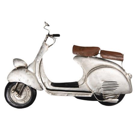Wanddecoratie scooter 60*6*39 cm Grijs | 5W6Y3618 | Clayre & Eef