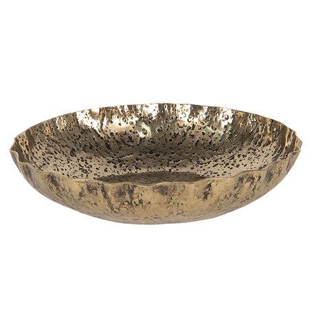 Decoratieve schaal ø 30*7 cm Goudkleurig | 6AL0047 | Clayre & Eef