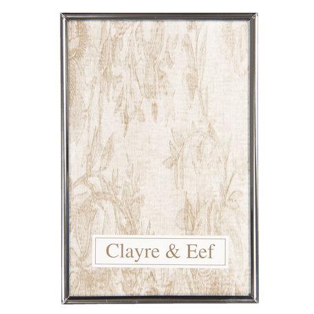 Fotolijst 14*1*19 cm / 13*18 cm Zilverkleurig | 2F0634M | Clayre & Eef
