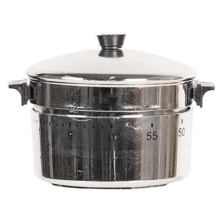 Kookwekker ø 7*8 cm Zilverkleurig | 64404 | Clayre & Eef