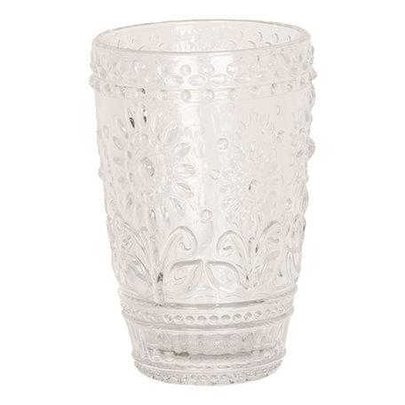 Drinkglas ø 8*12 cm Transparant | 6GL2496 | Clayre & Eef