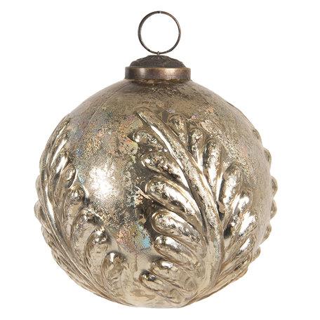 Kerstbal ø 10 cm Goudkleurig | 6GL2659 | Clayre & Eef
