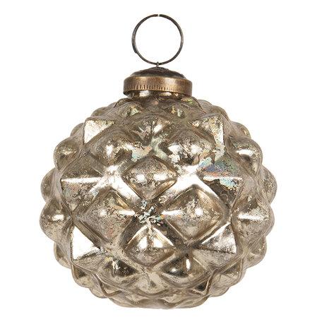 Kerstbal ø 8 cm Goudkleurig | 6GL2660 | Clayre & Eef