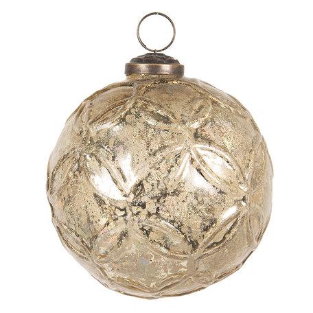 Kerstbal ø 10 cm Goudkleurig | 6GL2661 | Clayre & Eef