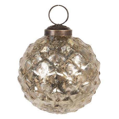 Kerstbal ø 8 cm Goudkleurig | 6GL2663 | Clayre & Eef