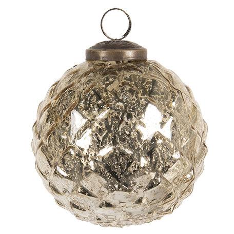 Kerstbal ø 10 cm Goudkleurig | 6GL2666 | Clayre & Eef