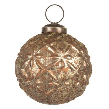 Kerstbal ø 8 cm Goudkleurig | 6GL2667 | Clayre & Eef