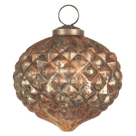 Kerstbal ø 10 cm Goudkleurig | 6GL2668 | Clayre & Eef