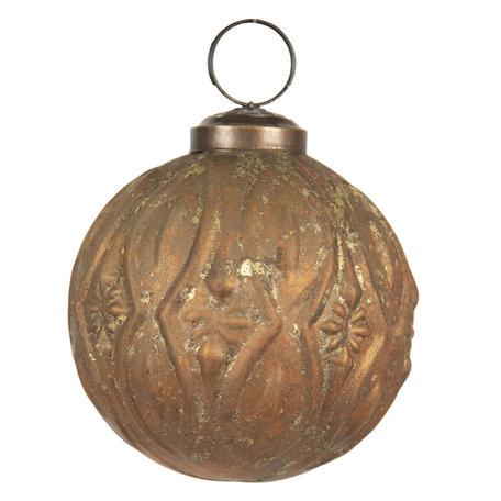 Kerstbal ø 8 cm Goudkleurig | 6GL2669 | Clayre & Eef