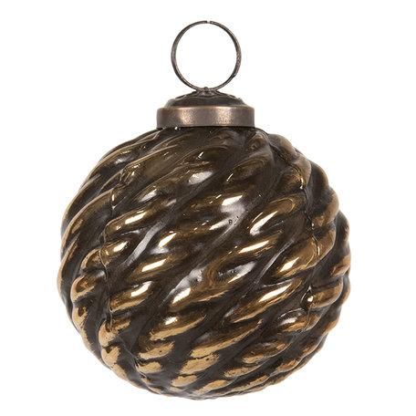 Kerstbal ø 8 cm Bruin | 6GL2672 | Clayre & Eef