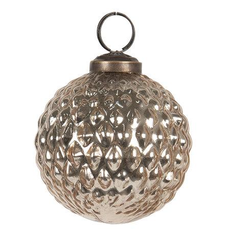 Kerstbal ø 8 cm Goudkleurig | 6GL2673 | Clayre & Eef