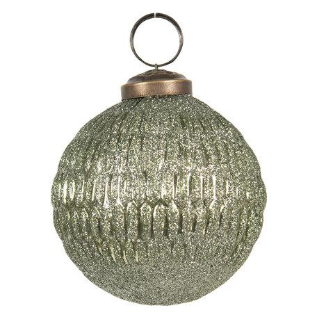 Kerstbal ø 8 cm Groen | 6GL2678 | Clayre & Eef