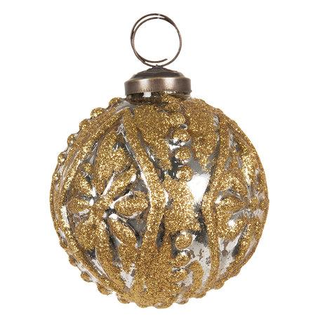 Kerstbal ø 8 cm Goudkleurig | 6GL2682 | Clayre & Eef