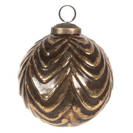 Kerstbal ø 10 cm Bruin | 6GL2683 | Clayre & Eef