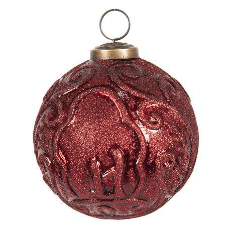 Kerstbal ø 10 cm Rood | 6GL2684 | Clayre & Eef