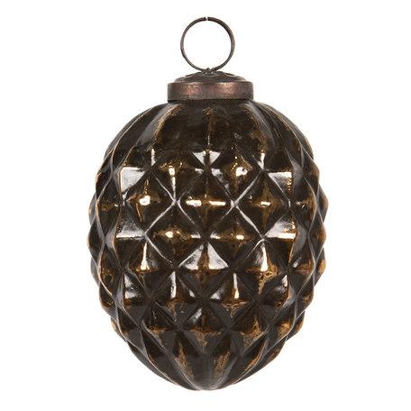 Kerstbal ø 10 cm Bruin | 6GL2685 | Clayre & Eef