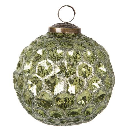 Kerstbal ø 10 cm Groen | 6GL2686 | Clayre & Eef