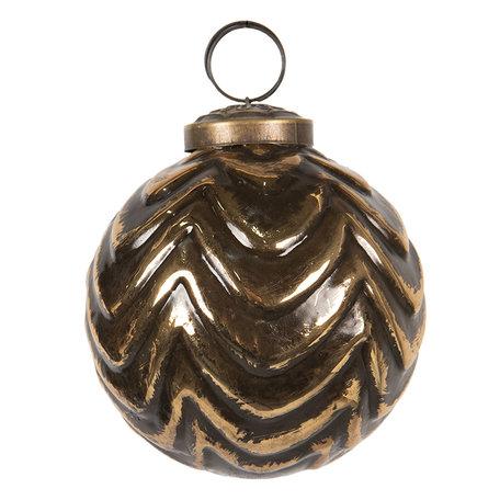 Kerstbal ø 8 cm Bruin | 6GL2688 | Clayre & Eef
