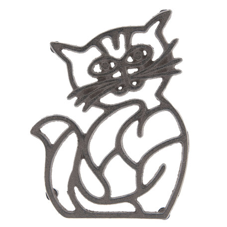 Pannenonderzetter kat 14*19*2 cm Bruin | 6Y3052 | Clayre & Eef