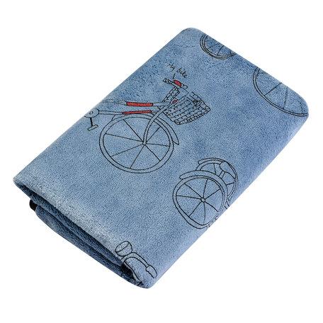Handdoek 35*75 cm Blauw | TOW0012BL | Clayre & Eef