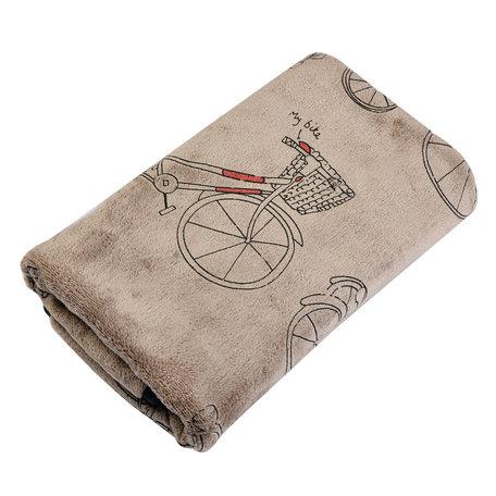 Handdoek 35*75 cm Bruin | TOW0012CH | Clayre & Eef