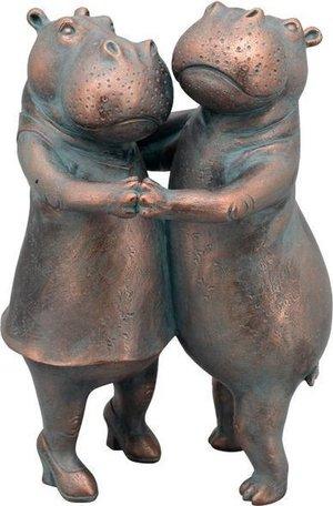 Beeld brons kleur Dansende Nijlpaarden | 42x28x20 cm | Exner