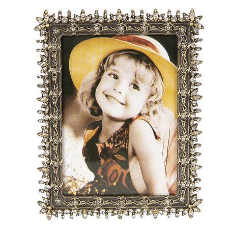 Fotolijst 10*2*13 / 8*10 cm Zilverkleurig | 2F0653 | Clayre & Eef