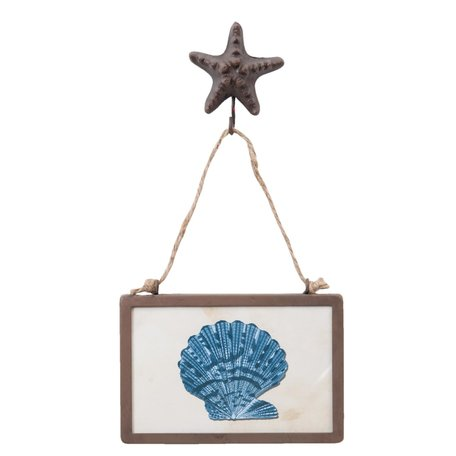 Schilderij 15*3*30 cm Blauw | 63717 | Clayre & Eef
