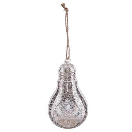 Waxinelichthouder 9*8*15 cm Zilverkleurig | 6GL1984 | Clayre & Eef