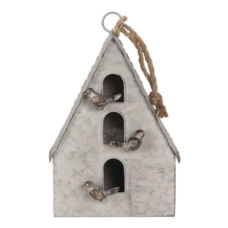 Decoratie vogelhuis 20*10*29 cm Grijs | 6Y3720 | Clayre & Eef