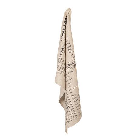 2 STUKS Keukendoek 50*70 cm Grijs | KT042C.010 | Clayre & Eef