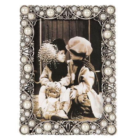 Fotolijst 11*2*15 / 9*13 cm Zilverkleurig | 2F0650 | Clayre & Eef