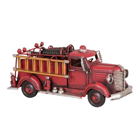 Model brandweerauto 23*8*10 cm Rood   6Y1240   Clayre & Eef