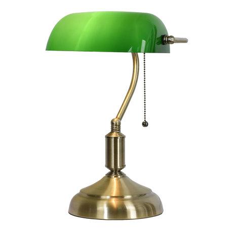 Klassieke Bureaulamp 27*17*41 cm E27/max 1*60W Groen | 5LL-5104 | Clayre & Eef