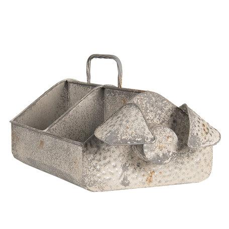 Vakkenbak varken 45*24*20 cm Grijs | 6Y3563 | Clayre & Eef