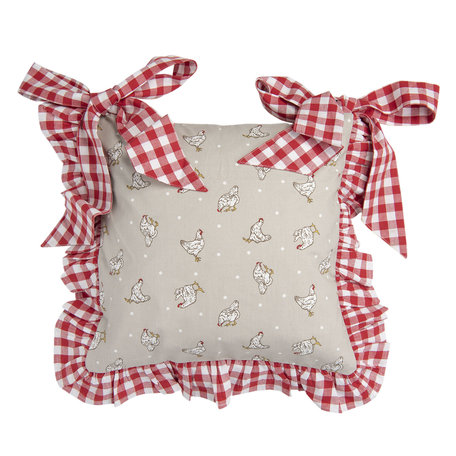 Stoelkussen hoes 40*40 cm Rood | LCH26R | Clayre & Eef
