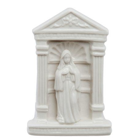 Decoratie beeld Maria 9*7*14 cm Wit | 6CE0755 | Clayre & Eef