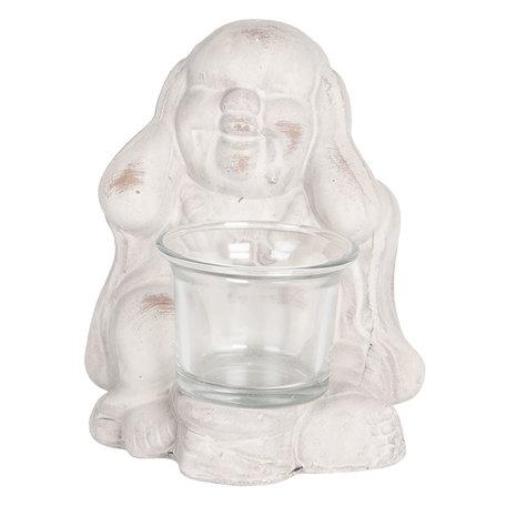 Decoratie Buddha 12*11*15 cm Beige | 6CE1078 | Clayre & Eef