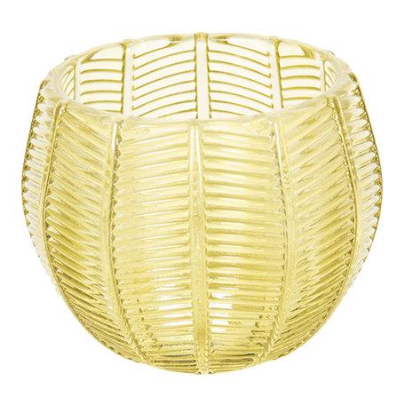 Waxinelichthouder ø 9*8 cm Geel | 6GL2437 | Clayre & Eef
