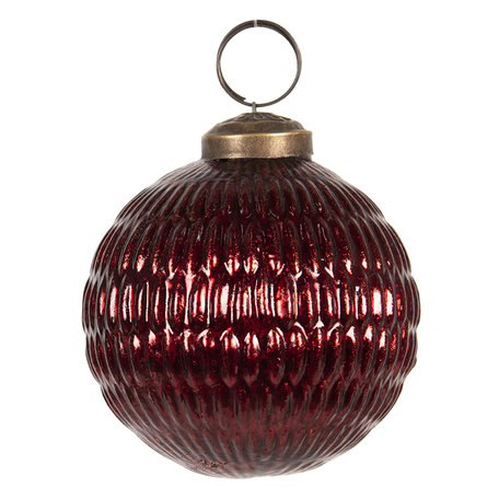 Kerstbal ø 8 cm Rood | 6GL2657 | Clayre & Eef
