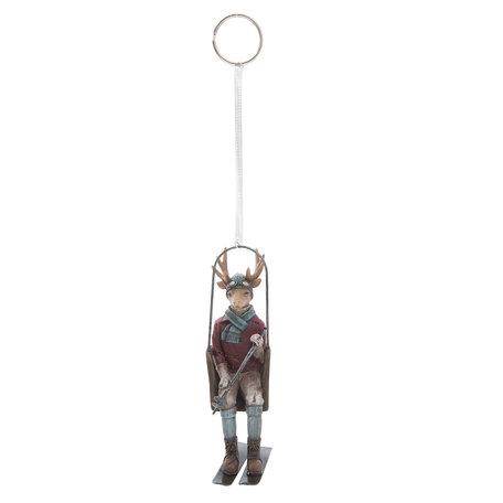 Hanger rendier 8*4*13 cm Multi | 6PR1159 | Clayre & Eef